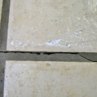 Cracking Along Grout Lines