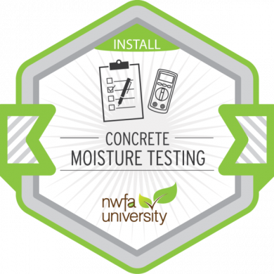 NWFA University - Concrete Moisture Testing Badge