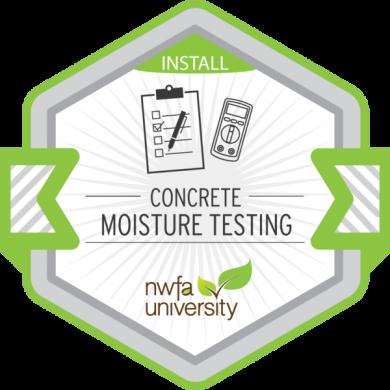 NWFA University - Concrete Moisture Testing Badge