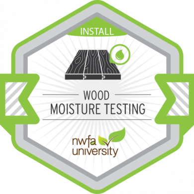 NWFA University - Wood Moisture Testing Badge