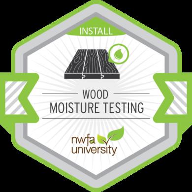 NWFA University - Wood Moisture Testing Badge