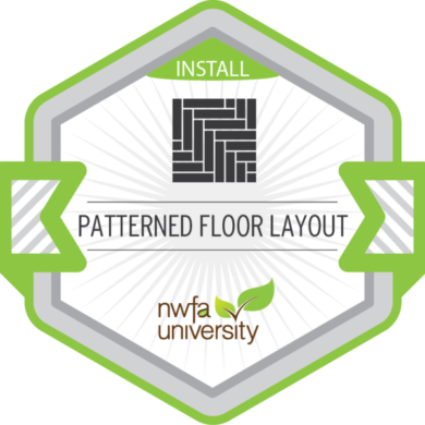 NWFA Install – Patterned Floor Layout