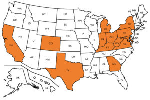 FloorWorks Inspections Services US State Map
