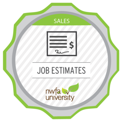 NWFA University Sales Advisor – Job Estimating