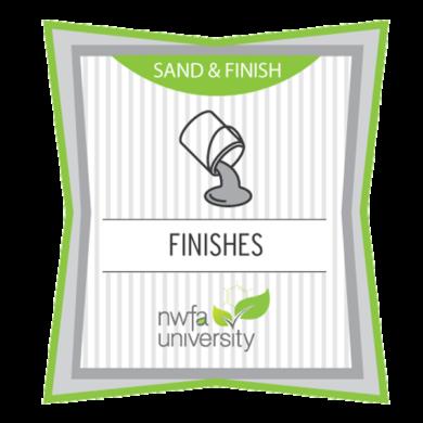 NWFA University - Sand & Finish Certificate - Finishes